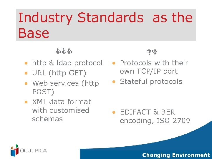 Industry Standards as the Base CCC DD • http & ldap protocol • URL