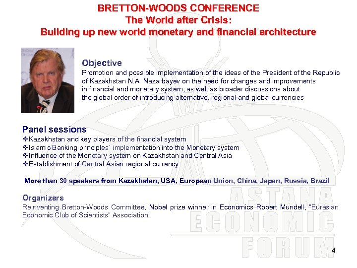 BRETTON-WOODS CONFERENCE The World after Crisis: Building up new world monetary and financial architecture