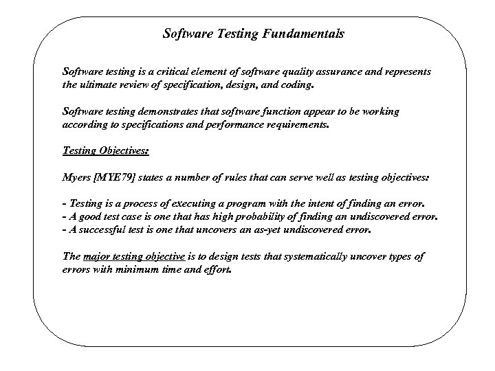 Software Testing Techniques Software Testing Techniques