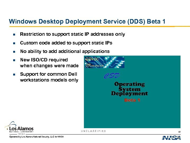 Windows Desktop Deployment Service (DDS) Beta 1 n Restriction to support static IP addresses