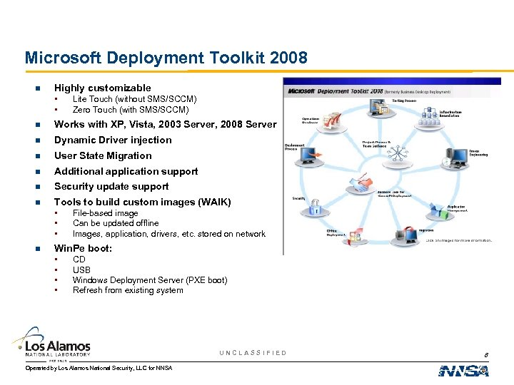 Microsoft Deployment Toolkit 2008 n Highly customizable • • Lite Touch (without SMS/SCCM) Zero