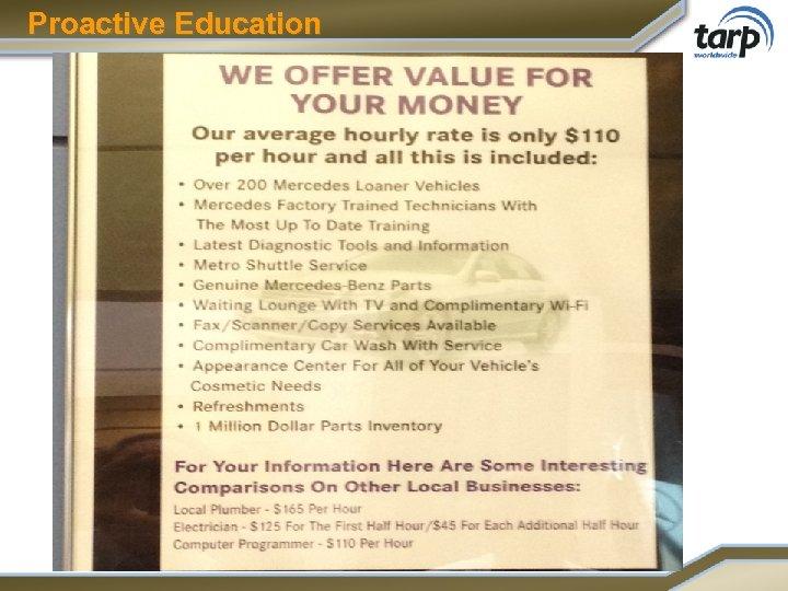 Proactive Education
