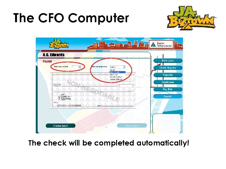 The CFO Computer The check will be completed automatically!