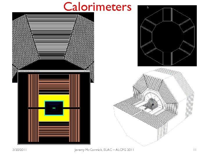 Calorimeters 3/20/2011 Jeremy Mc. Cormick, SLAC – ALCPG 2011 11