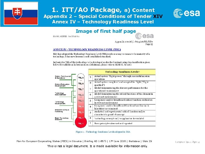 1. ITT/AO Package, a) Content Appendix 2 – Special Conditions of Tender XIV Annex