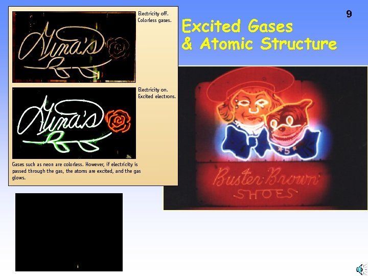 Excited Gases & Atomic Structure 9