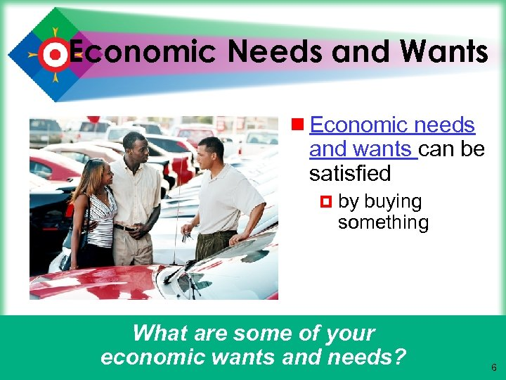Economic Needs and Wants ¾ Economic needs and wants can be satisfied ¤ by
