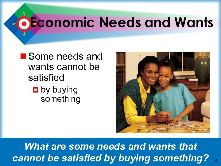 Economic Needs and Wants ¾ Some needs and wants cannot be satisfied ¤ by