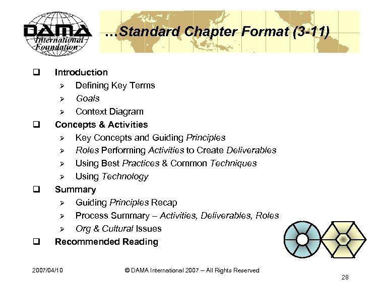 …Standard Chapter Format (3 -11) q q Introduction Ø Defining Key Terms Ø Goals