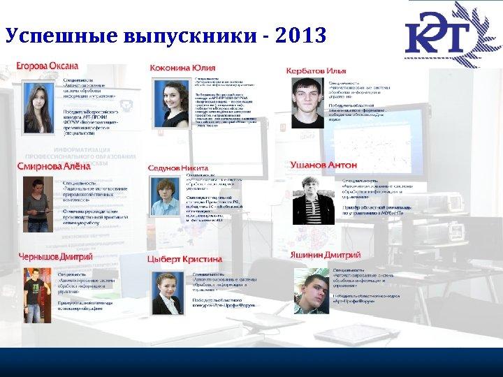 Успешные выпускники - 2013 Портрет эффективного волонтера 20 Федеральное агентство по делам молодежи, 2009