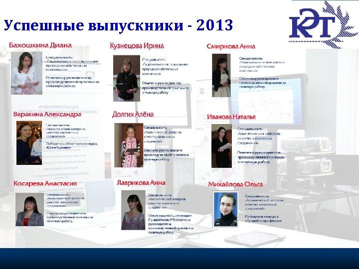 Успешные выпускники - 2013 Портрет эффективного волонтера 21 Федеральное агентство по делам молодежи, 2009