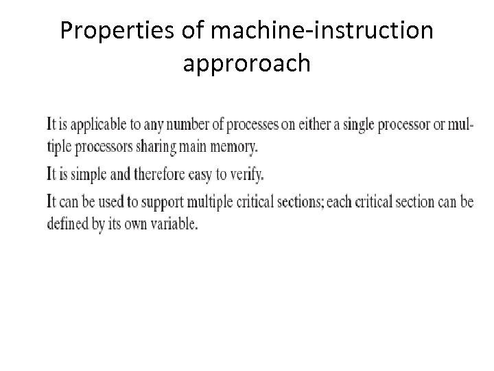 Properties of machine-instruction approroach