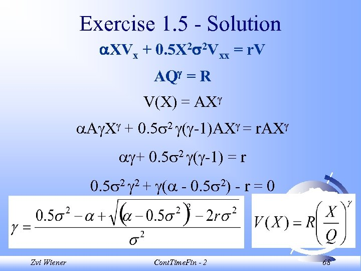 Exercise 1. 5 - Solution XVx + 0. 5 X 2 2 Vxx =