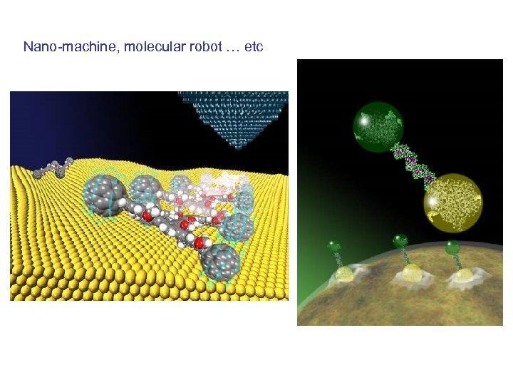 Nano-machine, molecular robot … etc