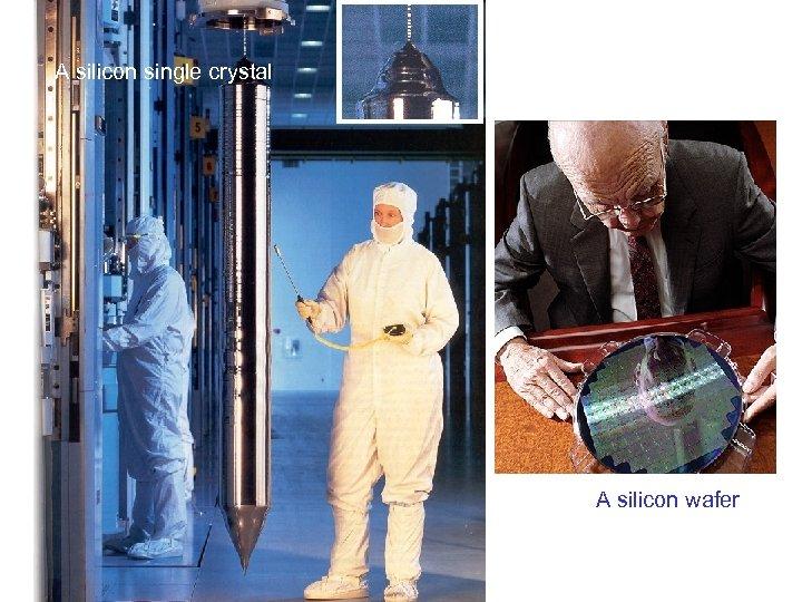 A silicon single crystal A silicon wafer