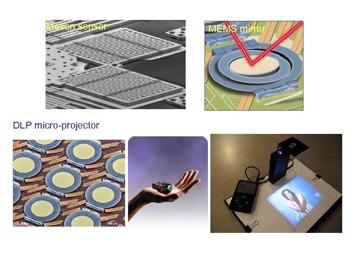 Motion sensor DLP micro-projector MEMS mirror