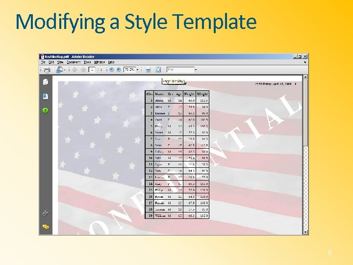 Modifying a Style Template 5