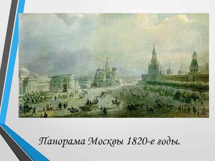 Панорама Москвы 1820 -е годы.