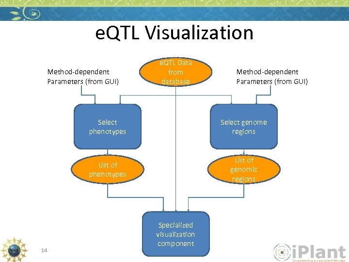 e. QTL Visualization Method-dependent Parameters (from GUI) e. QTL Data from database Method-dependent Parameters