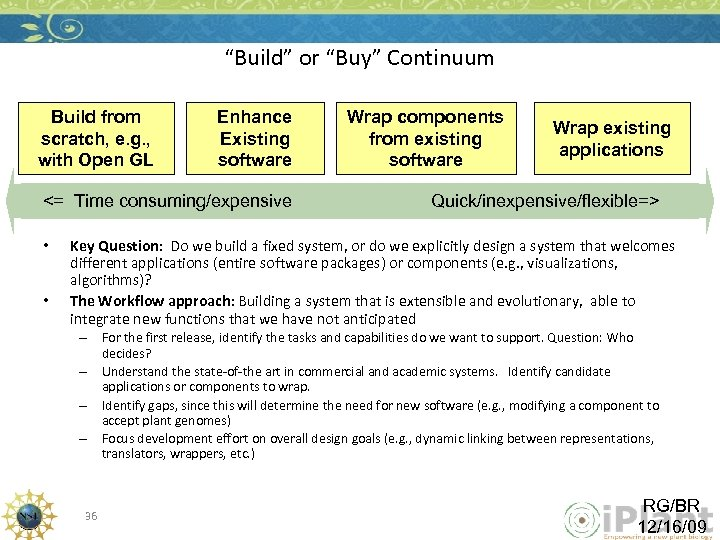 """""""Build"""" or """"Buy"""" Continuum Build from scratch, e. g. , with Open GL Enhance"""