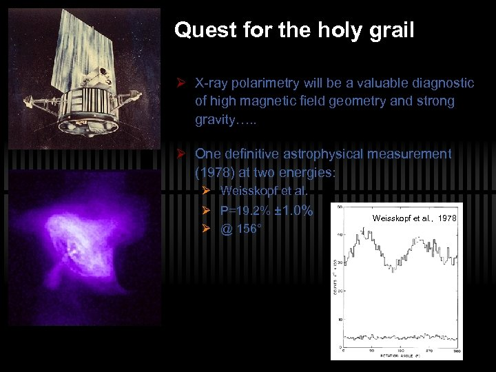 Quest for the holy grail Ø X-ray polarimetry will be a valuable diagnostic of