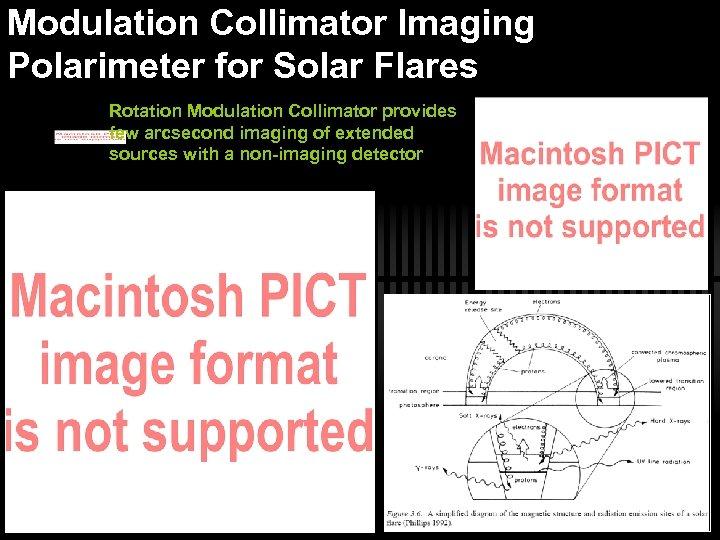 Modulation Collimator Imaging Polarimeter for Solar Flares Rotation Modulation Collimator provides few arcsecond imaging