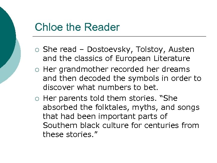 Chloe the Reader ¡ ¡ ¡ She read – Dostoevsky, Tolstoy, Austen and the