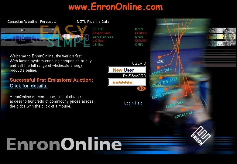 www. Enron. Online. com New User *******