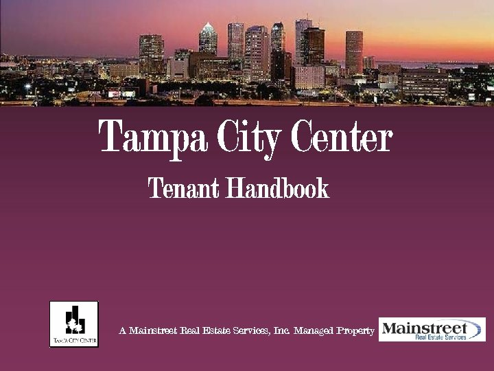 A Mainstreet Real Estate Services, Inc. Managed Property