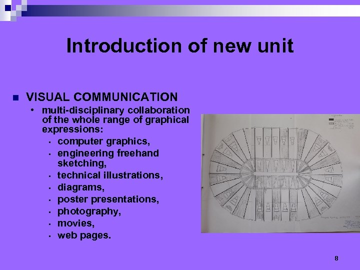 Introduction of new unit n VISUAL COMMUNICATION • multi-disciplinary collaboration of the whole range