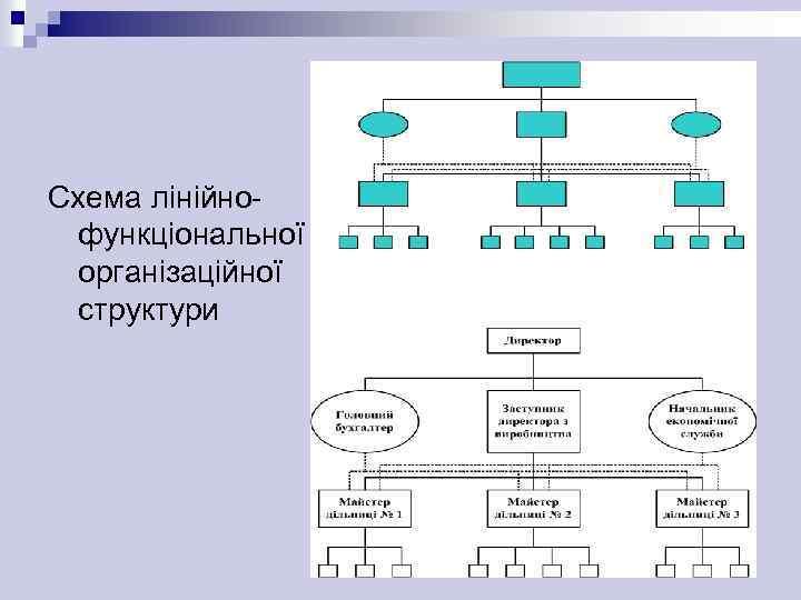 Схема лінійнофункціональної організаційної структури