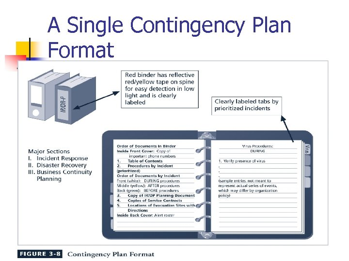 A Single Contingency Plan Format