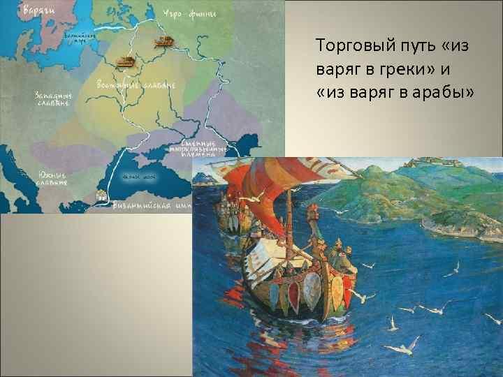 Торговый путь «из варяг в греки» и «из варяг в арабы»