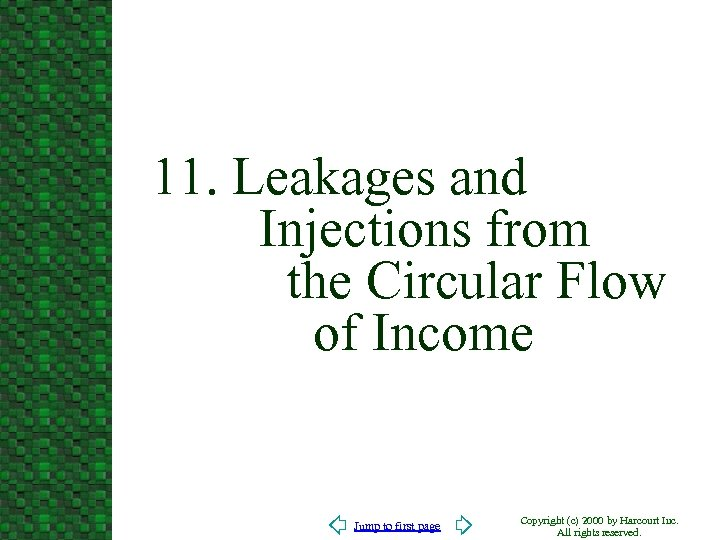 11. Leakages and Injections from the Circular Flow of Income Jump to first page