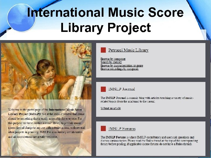 International Music Score Library Project