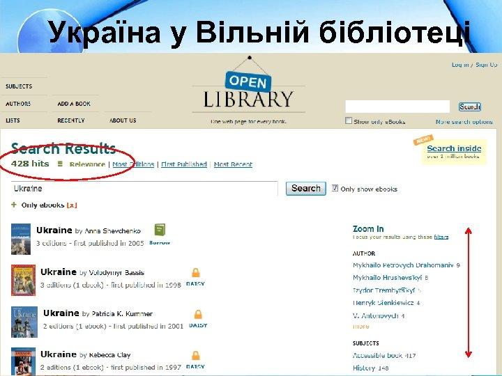 Україна у Вільній бібліотеці