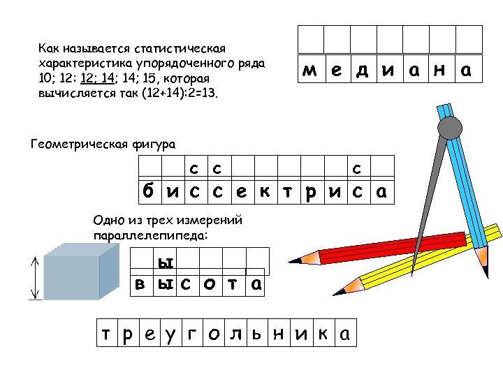 Как называется статистическая характеристика упорядоченного ряда 10; 12: 12; 14; 15, которая вычисляется так