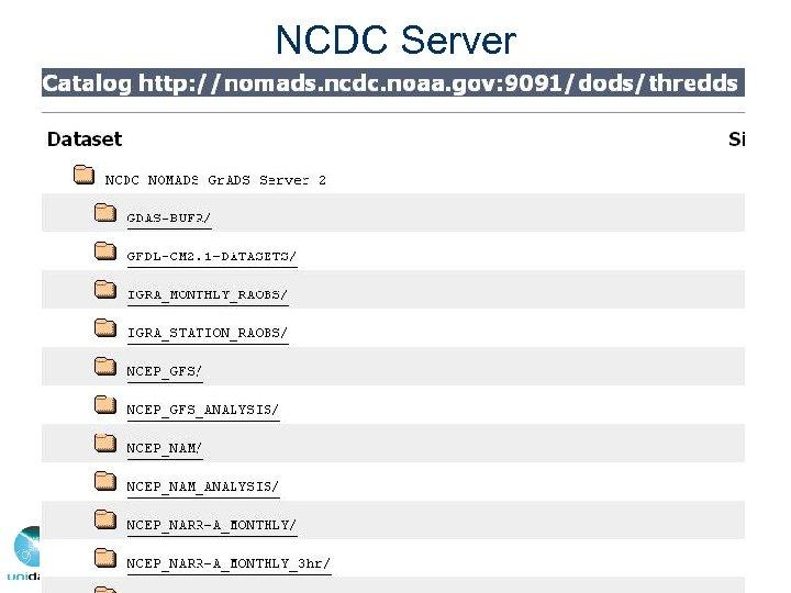 NCDC Server