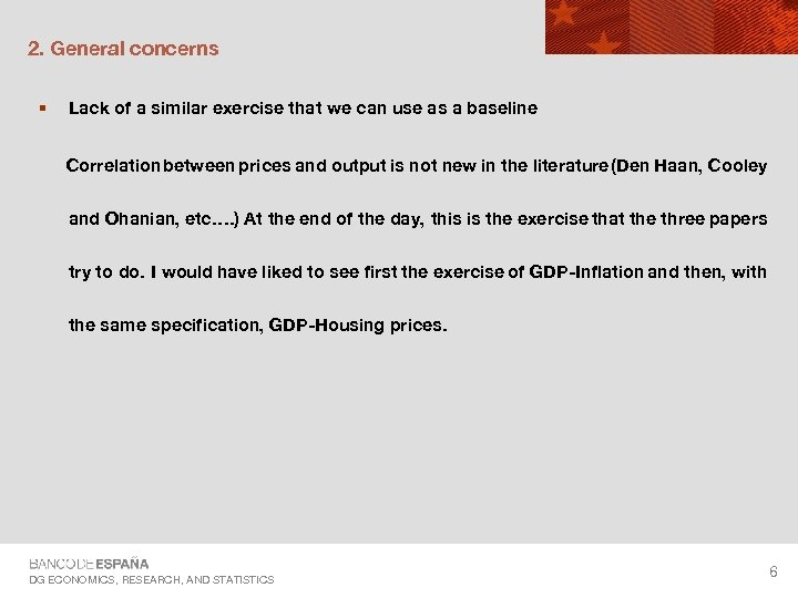 2. General concerns § Lack of a similar exercise that we can use as