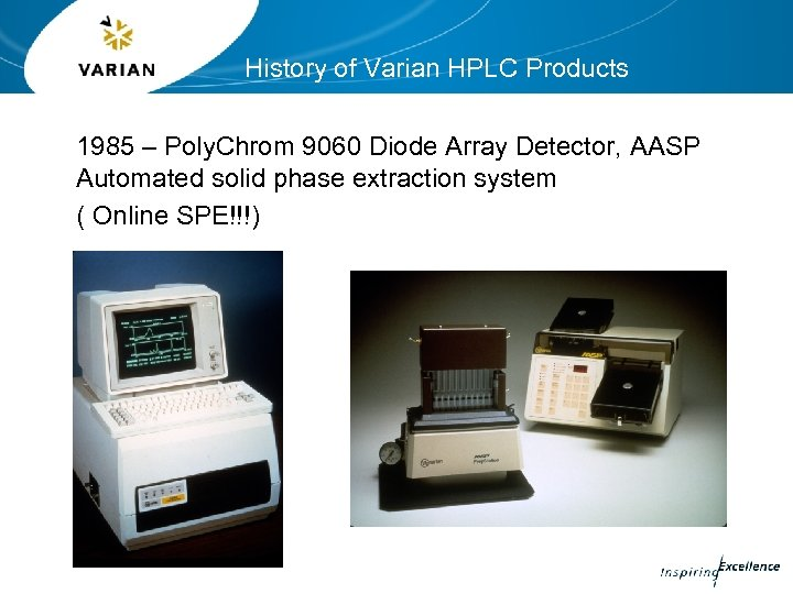 History of Varian HPLC Products 1985 – Poly. Chrom 9060 Diode Array Detector, AASP