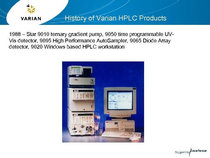 History of Varian HPLC Products 1988 – Star 9010 ternary gradient pump, 9050 time
