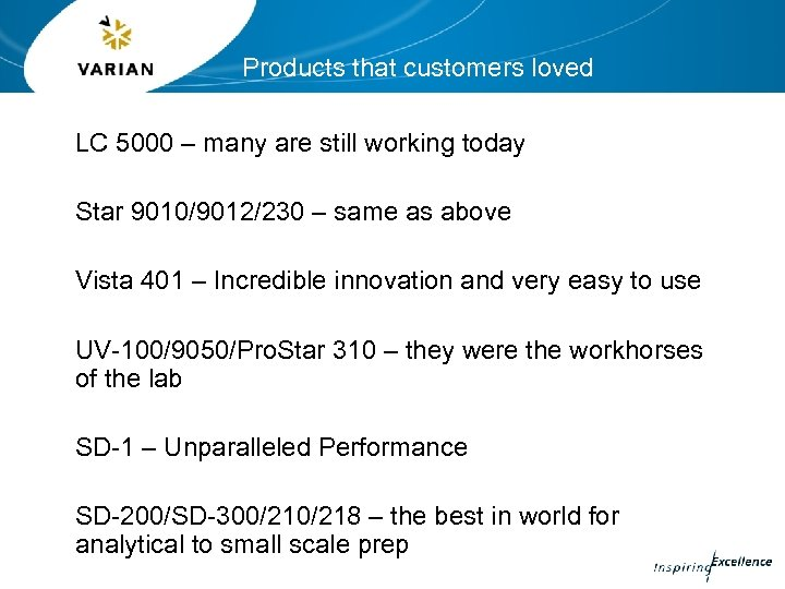 Products that customers loved LC 5000 – many are still working today Star 9010/9012/230