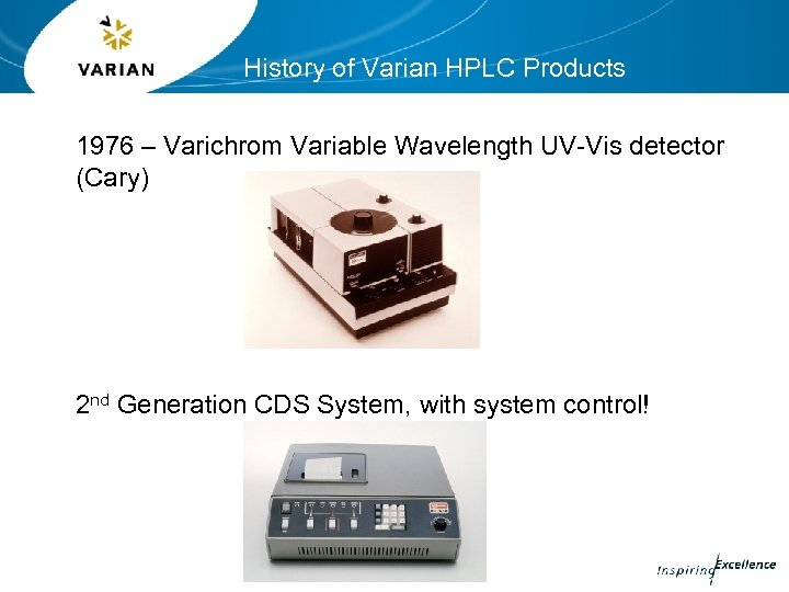 History of Varian HPLC Products 1976 – Varichrom Variable Wavelength UV-Vis detector (Cary) 2