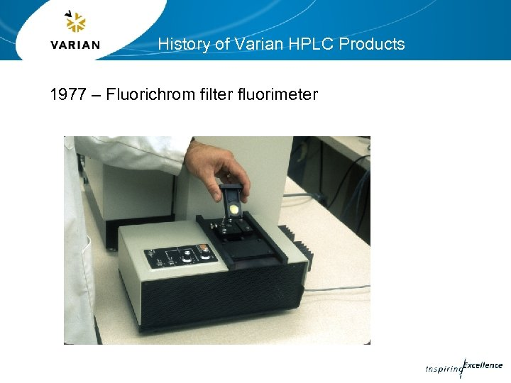 History of Varian HPLC Products 1977 – Fluorichrom filter fluorimeter