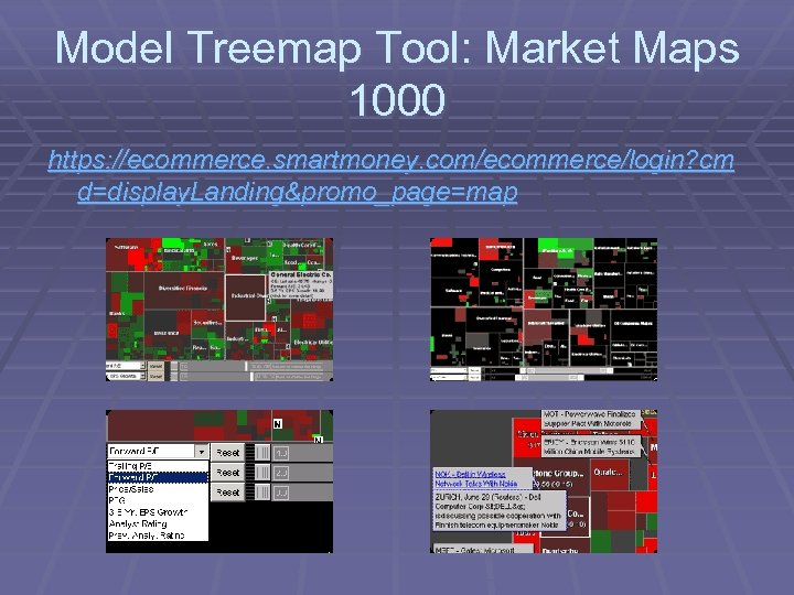 Model Treemap Tool: Market Maps 1000 https: //ecommerce. smartmoney. com/ecommerce/login? cm d=display. Landing&promo_page=map