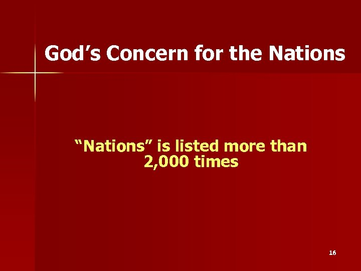 """God's Concern for the Nations """"Nations"""" is listed more than 2, 000 times 16"""
