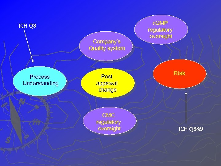 ICH Q 8 Company's Quality system Process Understanding Post approval change CMC regulatory oversight