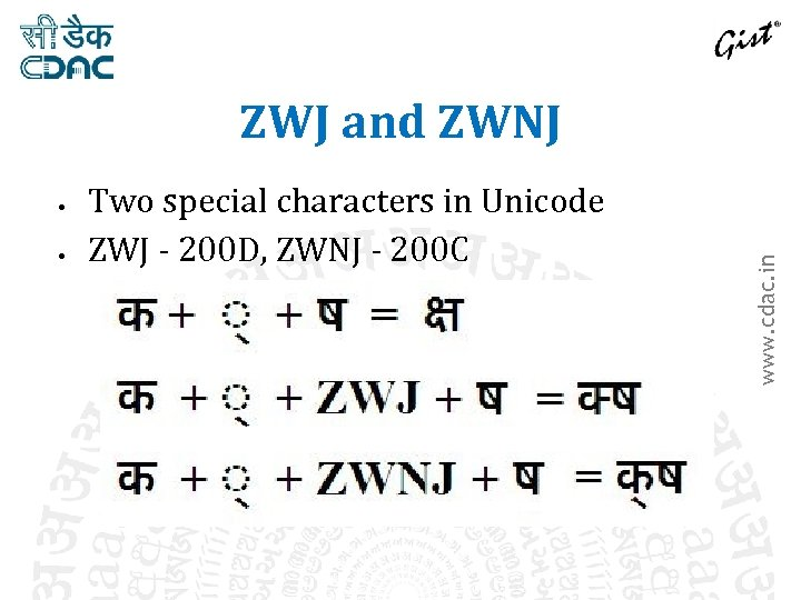 Two special characters in Unicode ZWJ - 200 D, ZWNJ - 200 C