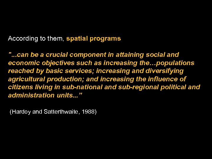 According to them, spatial programs