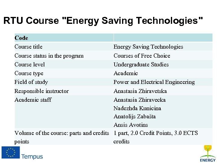 RTU Course
